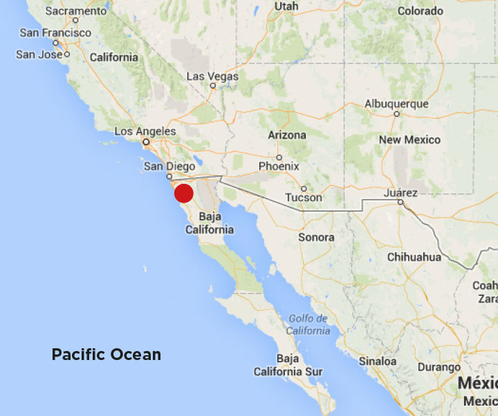 Karta Baja California